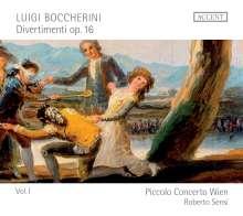 Luigi Boccherini (1743-1805): Divertimenti für Flöte & Streicher op.16 Vol.1, CD