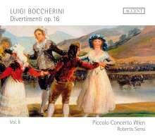 Luigi Boccherini (1743-1805): Divertimenti für Flöte & Streicher op.16 Vol.2, CD