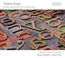 Raquel Andueza - Alfabeto Songs (Guitar Songs from 17th-century Italy), CD