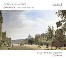 Carl Philipp Emanuel Bach (1714-1788): Concertos for various Instruments, CD