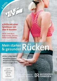 Tele-Gym - Mein starker & gesunder Rücken, 4 DVDs