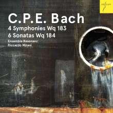 Carl Philipp Emanuel Bach (1714-1788): Symphonien Wq.183 Nr.1-4, CD