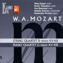 Wolfgang Amadeus Mozart (1756-1791): Klavierquartett Nr.1 KV 478, CD