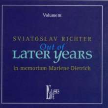 Svjatoslav Richter - Out Of Later Years Vol.3, CD
