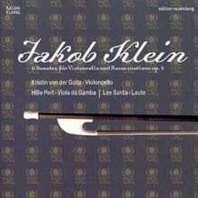 Jacob Klein (1688-1748): Sonaten op.4 Nr.1-6 für Cello & Bc, CD