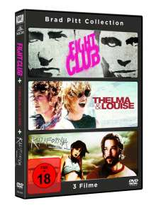 Fight Club / Thelma & Louise / Kalifornia, 3 DVDs