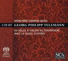 Georg Philipp Telemann (1681-1767): 12 Soli (Sonaten) für Violine oder Flöte & Bc, 2 SACDs