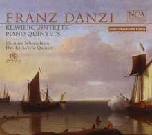Franz Danzi (1763-1826): Quintette für Klavier & Bläser opp.41,53,54, Super Audio CD