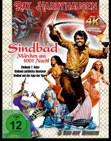 Ray Harryhausen - Sindbad, Märchen aus 1001 Nacht (Blu-ray), 3 Blu-ray Discs
