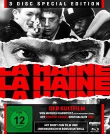 La Haine - Hass (Ultra HD Blu-ray & Blu-ray im Digipack), 1 Ultra HD Blu-ray, 2 Blu-ray Discs und 1 T-Shirt