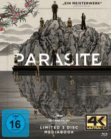 Parasite (Ultra HD Blu-ray & Blu-ray im Mediabook), 3 Ultra HD Blu-rays