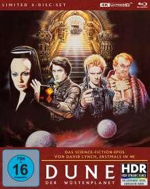 Dune - Der Wüstenplanet (Ultra HD Blu-ray & Blu-ray im Mediabook), 1 Ultra HD Blu-ray und 2 Blu-ray Discs