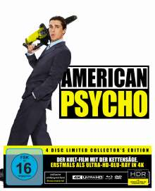 American Psycho (Ultra HD Blu-ray, Blu-ray, DVD & CD im Mediabook), 1 Ultra HD Blu-ray, 1 Blu-ray Disc, 2 DVDs und 1 CD