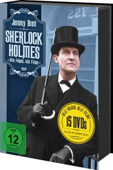 Sherlock Holmes (Alle Folgen, alle Filme), 15 DVDs