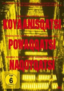 """Die Qatsi Trilogie (""""Koyaanisqatsi"""", """"Powaqqatsi"""" & """"Nagoyqatsi""""), 3 DVDs"""