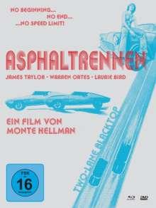 Asphaltrennen (Blu-ray & DVD im Mediabook), 1 Blu-ray Disc und 2 DVDs