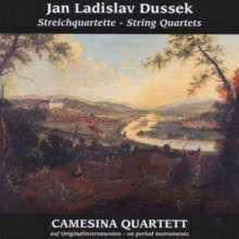 Johann Ludwig Dussek (1760-1812): Streichquartette op.60 Nr.1-3, CD