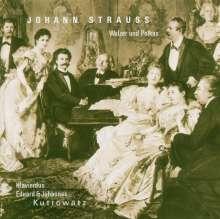 Johann Strauss II (1825-1899): Walzer und Polkas für Klavier 4-händig, CD