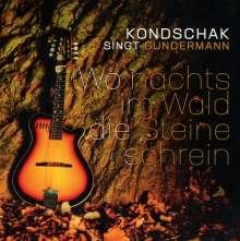 Heiner Kondschak: Wo nachts im Wald die Steine schrein (Kondschak singt Gundermann), CD