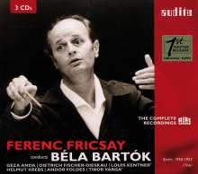 Bela Bartok (1881-1945): Ferenc Fricsay dirigiert Bartok (Complete RIAS Recordings), 3 CDs
