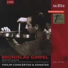 Bronislaw Gimpel - Violinkonzerte und -Sonaten, 3 CDs