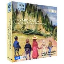 Edvard Grieg (1843-1907): Sämtliche Orchesterwerke (Vorab exklusiv für jpc), 5 SACDs