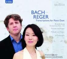Johann Sebastian Bach (1685-1750): Brandenburgische Konzerte Nr.1-6 für Klavier 4-händig, 2 CDs