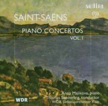 Camille Saint-Saens (1835-1921): Klavierkonzerte Vol.1, Super Audio CD
