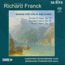 Richard Franck (1858-1938): Werke für Violine & Klavier, SACD