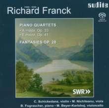 Richard Franck (1858-1938): Klavierquartette op.33 & 41 (A-Dur & E-Dur), Super Audio CD