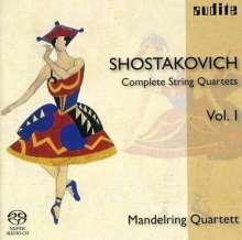 Dmitri Schostakowitsch (1906-1975): Sämtliche Streichquartette Vol.1 (Mandelring Quartett), Super Audio CD