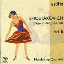 Dmitri Schostakowitsch (1906-1975): Sämtliche Streichquartette Vol.2 (Mandelring Quartett), Super Audio CD