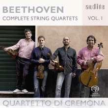 Ludwig van Beethoven (1770-1827): Sämtliche Streichquartette Vol.1, SACD