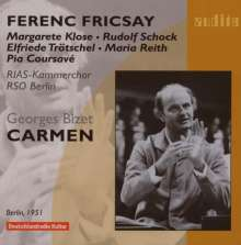 Georges Bizet (1838-1875): Carmen (Ausz.in dt.Spr.), CD