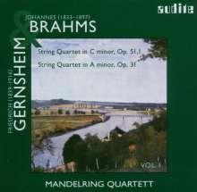 Friedrich Gernsheim (1839-1916): Streichquartett a-moll op.31, CD
