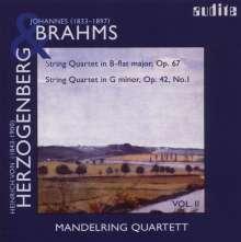 Heinrich von Herzogenberg (1843-1900): Streichquartett op.42, CD