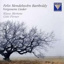 "Felix Mendelssohn Bartholdy (1809-1847): Lieder (""Vergessene Lieder""), CD"