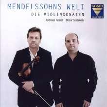 Felix Mendelssohn Bartholdy (1809-1847): Sonaten f.Violine & Klavier Nr.1-3, CD