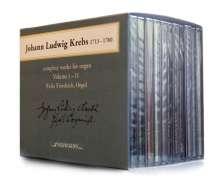 Johann Ludwig Krebs (1713-1780): Sämtliche Orgelwerke, 12 CDs