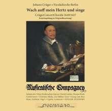 """Johann Crüger (1598-1662): Concert Choräle - """"Wach auf mein Hertz und singe"""", CD"""