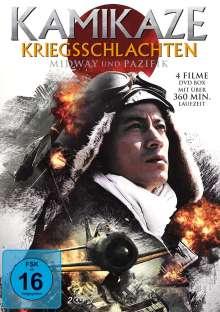 Kamikaze Kriegsschlachten - Midway und Pazifik (4 Filme auf 2 DVDs), 2 DVDs