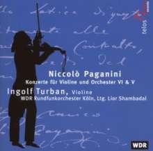 Niccolo Paganini (1782-1840): Violinkonzerte Nr.5 & 6, 2 CDs