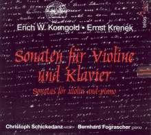 Erich Wolfgang Korngold (1897-1957): Sonate G-Dur für Violine & Klavier op.6, CD