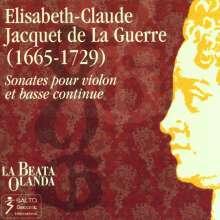 Elisabeth-Claude Jacquet de la Guerre (1665-1729): Sonaten Nr.1-6 für Violine & Bc, CD