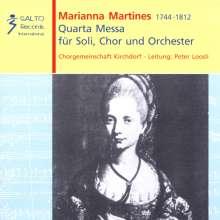 Marianna Martinez (1744-1812): Quarta Messa für Soli,Chor & Orchester, CD