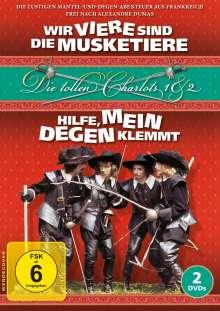 Die tollen Charlots 1 & 2: Wir Viere sind die Musketiere & Hilfe, mein Degen klemmt!, 2 DVDs