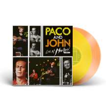 Paco De Lucia & John McLaughlin: Paco and John Live At Montreux 1987 (180g) (Limited Numbered Edition) (Transparent Yellow & Orange Vinyl), 2 LPs