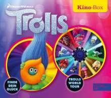 Trolls Kino-Box: Trolls finde dein Glück / Trolls World Tour, 2 CDs