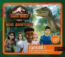 Jurassic World - Neue Abenteuer Staffel 3 Hörspiel (Staffelbox) Folgen 7 - 9, 3 CDs