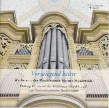 Philipp Christ - Vorwiegend heiter (Werke von der Renaissance bis zur Mozartzeit), CD